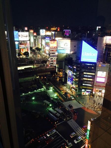 渋谷ヒカリエからの夜景