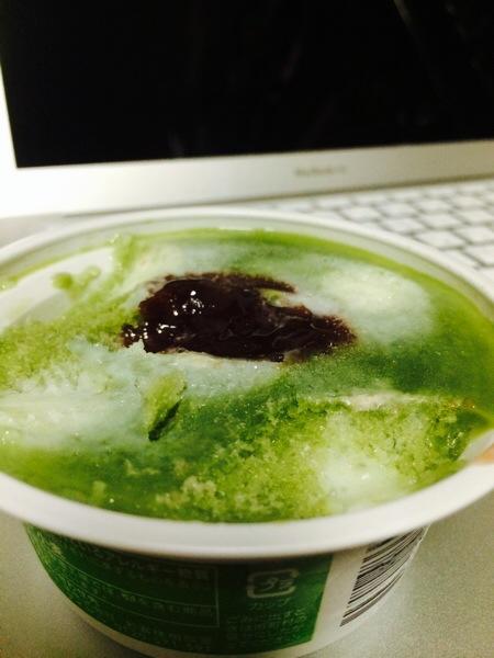 セブンイレブンのあずき抹茶氷