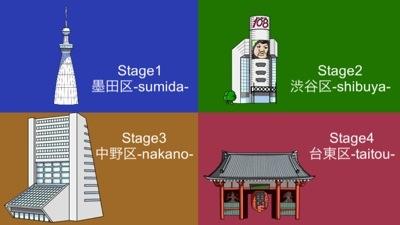 桐谷さんチャリ走のステージセレクト